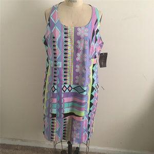 AVERARDO BESSI Multi-color MOD Graphic Print Dress